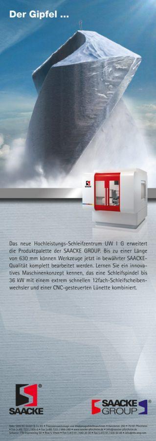 Technische Imageanzeige Saacke / TTB für Werkzeugschleifmaschinen