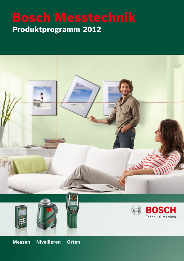 Abbildung Titel des Hauptkatalogs Bosch Messtechnik