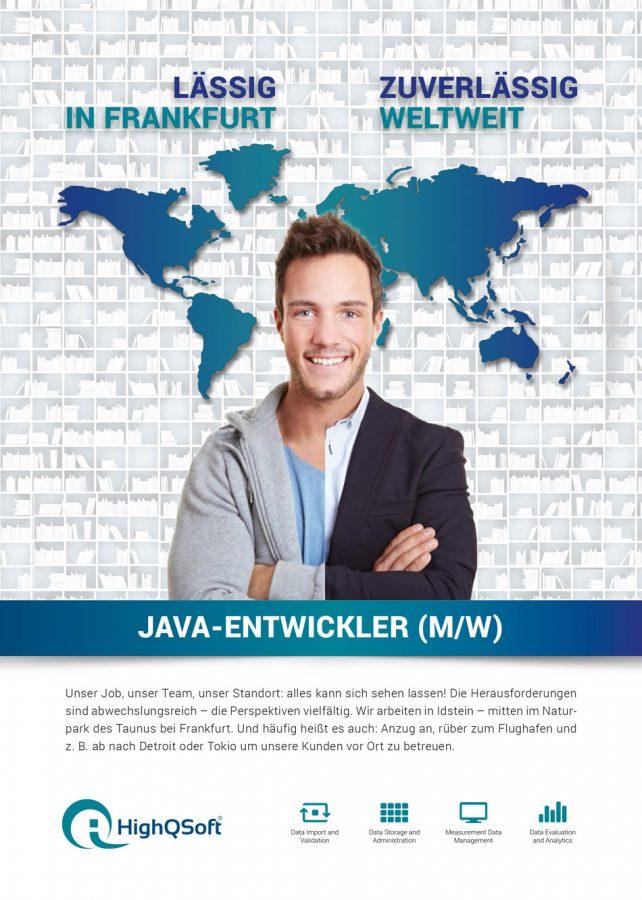 Stellenanzeige für Software-Entwickler von der HighQSoft GmbH Frankfurt © Ars Cordis Werbeagentur Stuttgart
