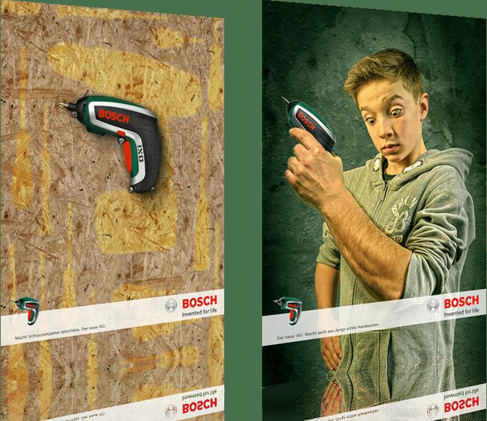 Kreative Werbung für Bosch