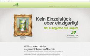 Neue Website für die esgemo Schmierstofftechnik