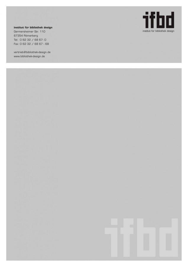 Briefpapier für das Institut für Bibliothek Design (IFBD)