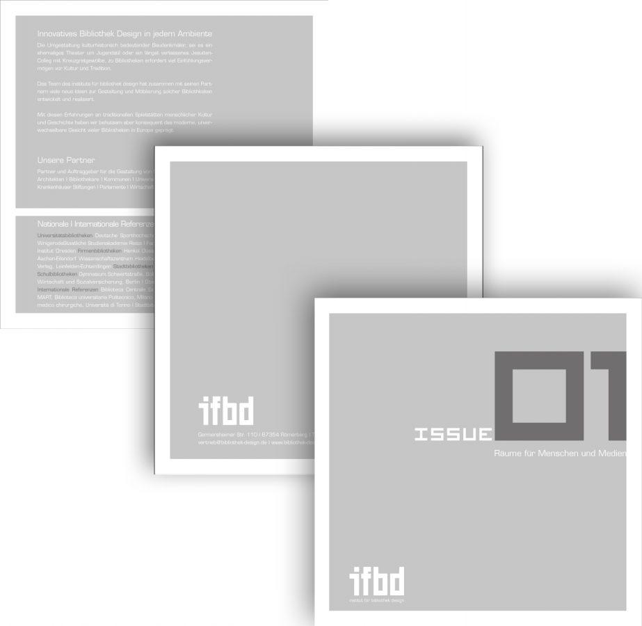 Imagebroschüre des IFBD (Institut für Bibliotheksdesign)