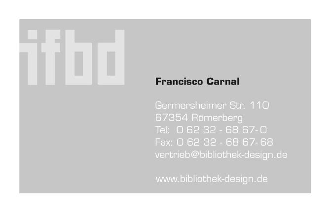 Visitenkarte für den IFBD (Institit für Bibliothek Design)