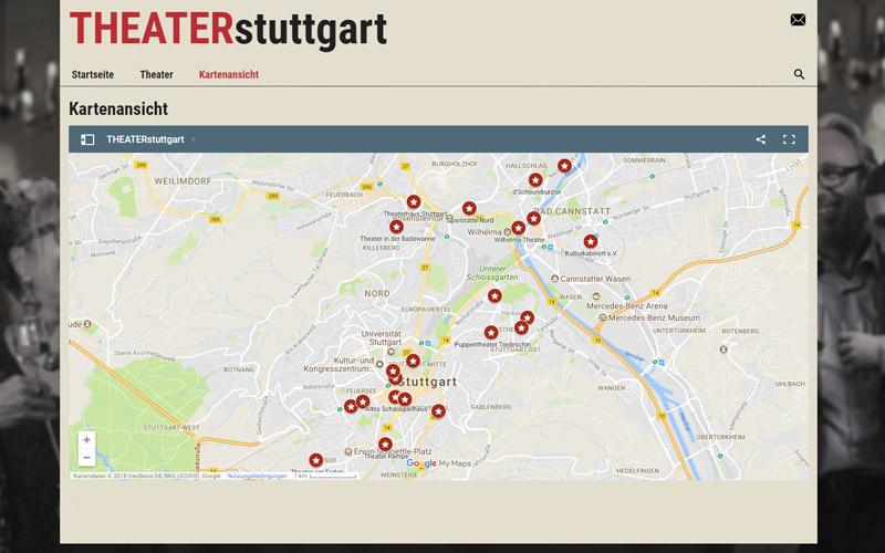Kartenansicht - Theater Stuttgart