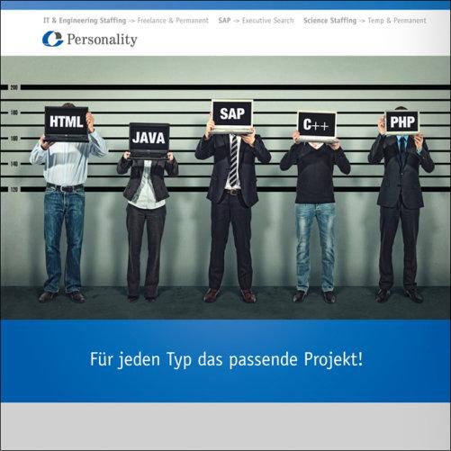Tiitelbild der Imagebroschüre für Personality IT