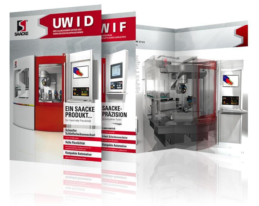 Abbildung der Produktbroschüren UW I D und UW I F der Gebr. SAACKE GmbH & Co. KG