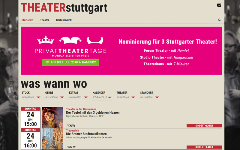 Startseite Theater Stuttgart