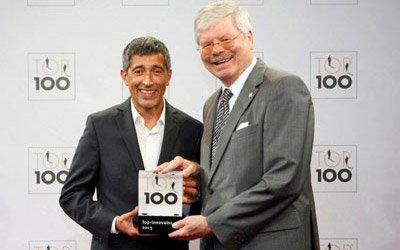 Top 100 Innovator Preisverleihung für das Konzept des Festo Bildungsfonds von der Ars Cordis Werbeagentur Stuttgart
